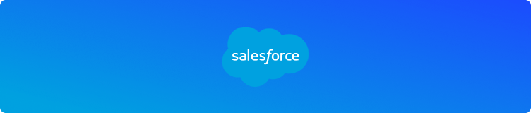 Salesforce with blue background